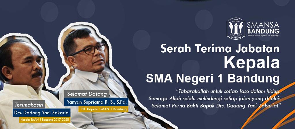 Serah Terima Jabatan Kepala SMAN 1 Bandung