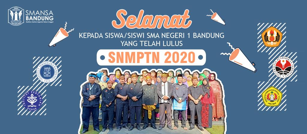 Selamat! Siswa-siswi SMA Negeri 1 Bandung yang telah Lulus SNMPTN 2020